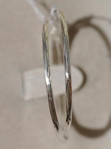 Конго 4,0 см. с узором (серьги из серебра)