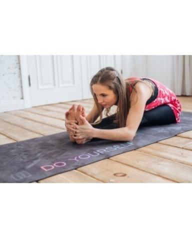 Коврик для йоги Black 183*61*0,3 см из микрофибры и каучука