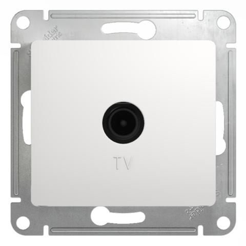 Розетка TV оконечная 1DB. Цвет Белый. Schneider Electric Glossa. GSL000191