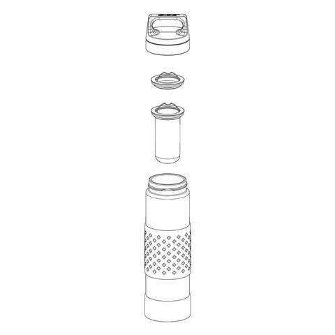 Термобутылка Sigg H&C Glass WMB Midnight (0,4 литра), зеленая