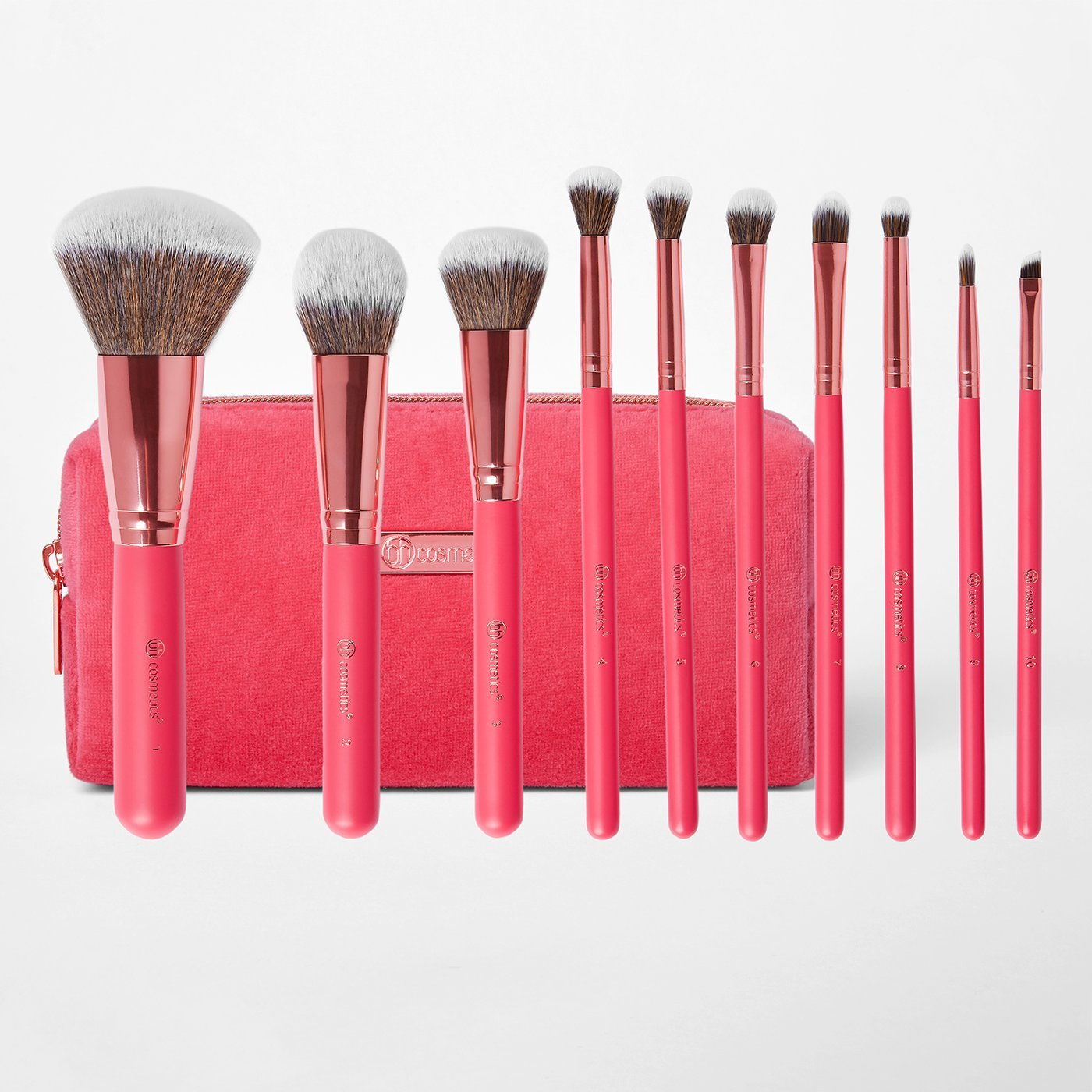 BH Cosmetics Bombshell beauty 10 piece brush set набор кистей