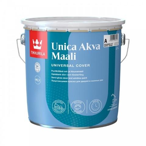 Tikkurila Unica Akva Maali /Тиккурила Уника Аква Маали полуглянцевая краска для окон и дверей