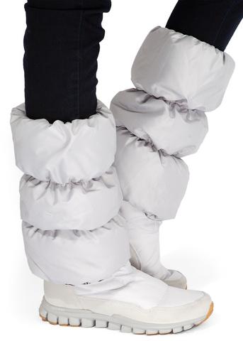 Краги для обуви светло-серые