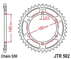 Звезда задняя JTR 502.44  Kawasaki ZZR 1100