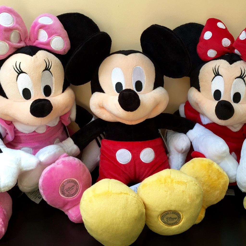 Микки Маус и 2 Минни - 80 см, Мягкие игрушки