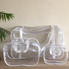Прозрачная сумка в роддом с 2 косметичками, белая, вид 2