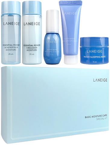 Laneige Basic Moisture Care Special Kit Увлажняющий мини набор из 5-ти средств