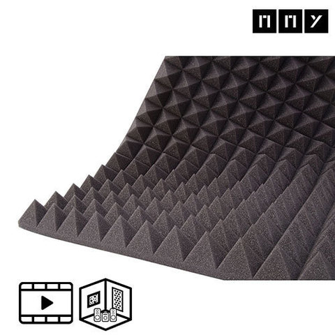 Акустический поролон ППУ м² Пирамида 70