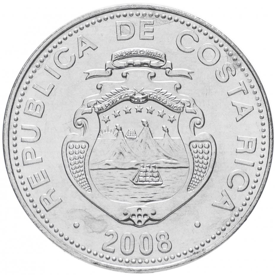 5 колон. Коста-Рика. 2008 год. UNC