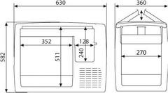 Компрессорный автохолодильник Dometic CoolFreeze CF-50 (12V/24V/220V, 49л)