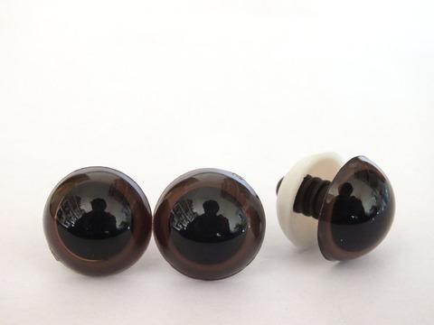 Глазки для мягкой игрушки круглый зрачок 15 мм коричневый