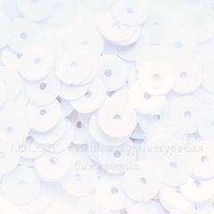 Пайетки белые, 6 мм, 10 грамм