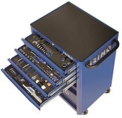 Тележка инструментальная для автосервиса с 206 предметами, 6 ящ, IRIMO