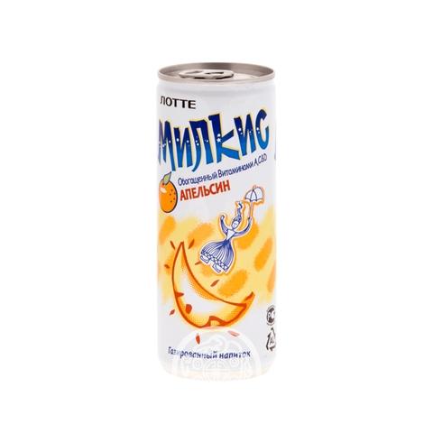 Напиток газированный Милкис апельсин 250мл Lotte Корея