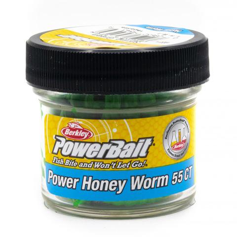 Приманка силиконовая Berkley Honey Worm Spring Green (1506398) Имитация опарыша крупного