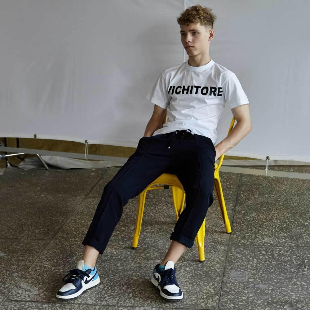 Подростковые брюки для мальчика в синем цвете