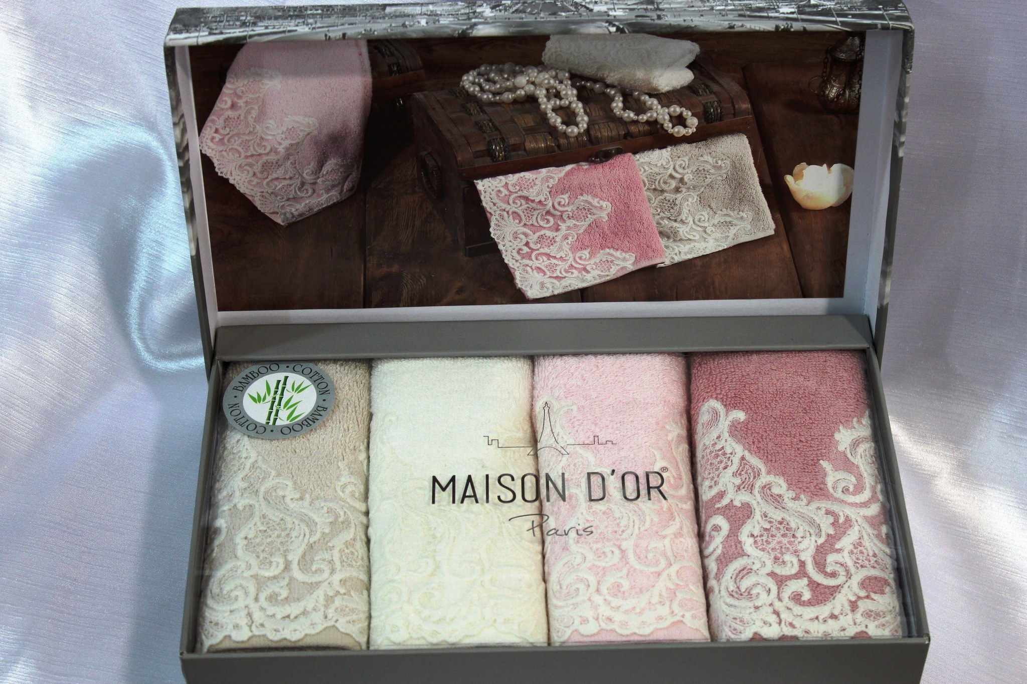 Наборы салфеток Набор салфеток JASMİNE - ЖАСМИН  в размере 30*50 Maison Dor (Турция) JASMIN__2_.JPG