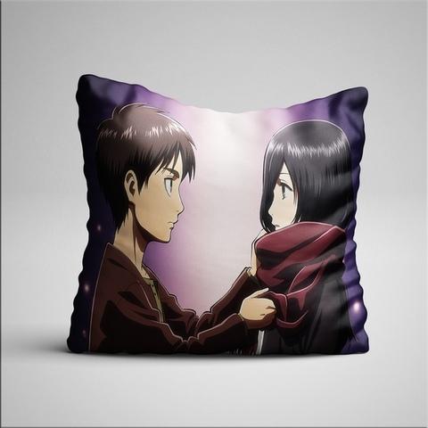 Подушка с Эреном и Микасой