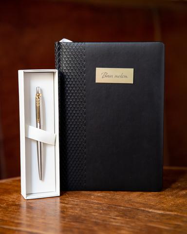 Набор с гравировкой: Ежедневник  и Шариковая ручка Parker Jotter Essential, St. Steel GT