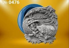 Силиконовый молд  Ёжик   (медальон) № 0476