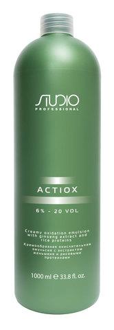Кремообразная окислительная эмульсия с экстрактом женьшеня и рисовыми протеинами,Kapous Studio ActiOX 6%,1000 мл