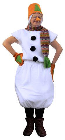 Костюм Снеговик в оранжевом ведре