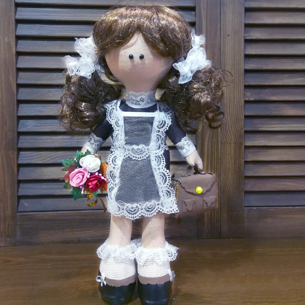 Купить куклу ручной работы Школьница Первоклассница в Перми