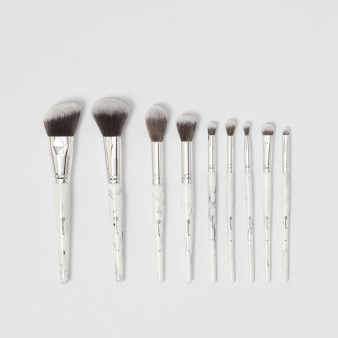 BH Cosmetics White Marble 9 piece brush set
