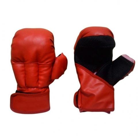F072(12) Перчатки д/рук боя, 12унц, красные, и/кожа, спец набивка, совр. дизайн, пр-во Россия (Рон) (F072 красные)