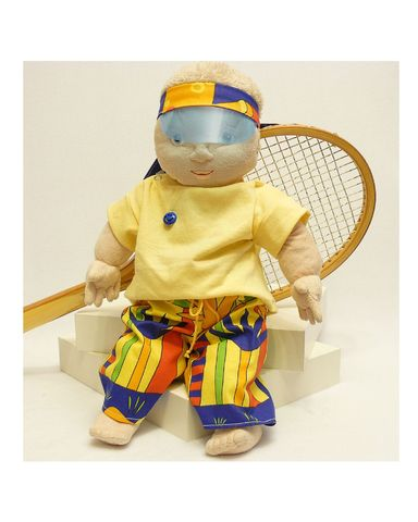 Летний костюм - На кукле. Одежда для кукол, пупсов и мягких игрушек.