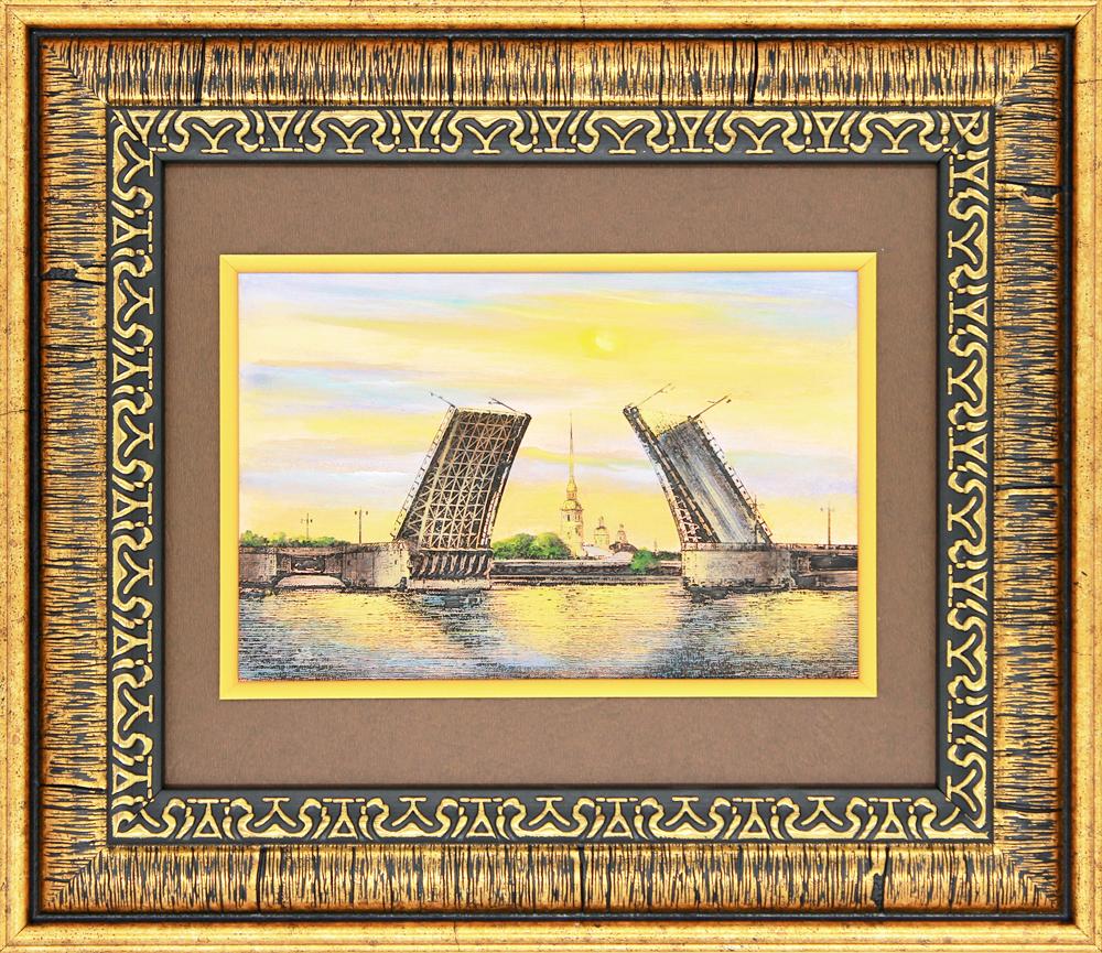 №10 «Дворцовый мост» Гравюра