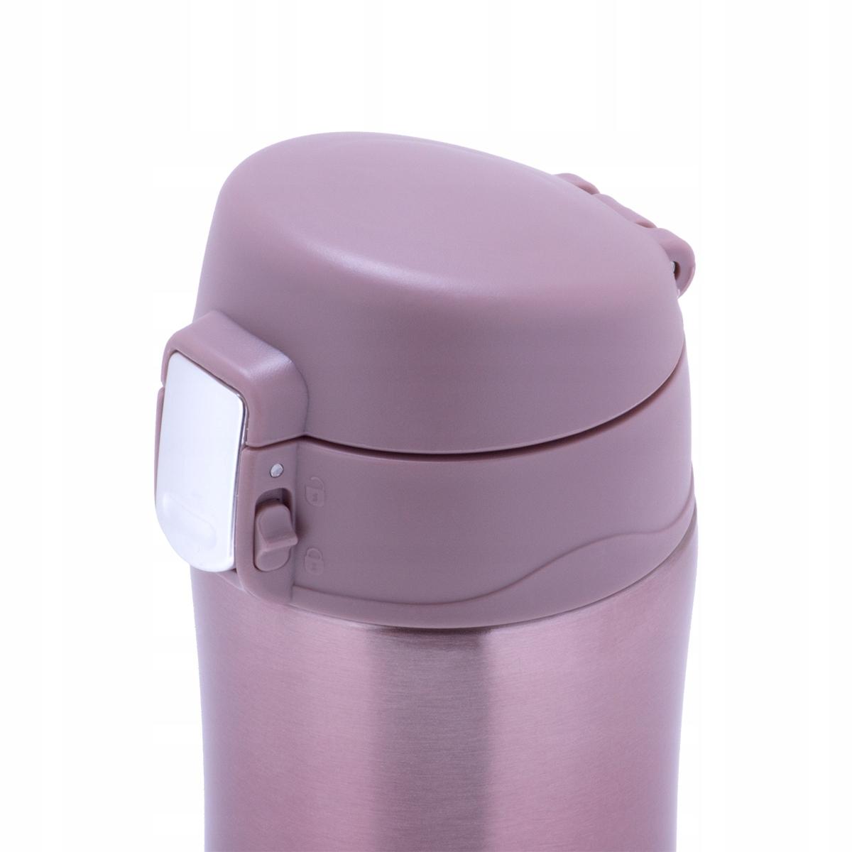 Термос-кружка Kamille  450 мл. из нержавеющей стали, розовый