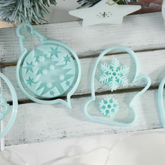 Каттеры новогодние шары и снежинки