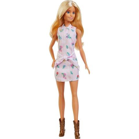 Кукла Barbie Игра с модой Платье-рубашка с цветочным принтом FXL52