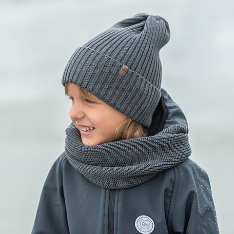 Knitted snood - Graphite