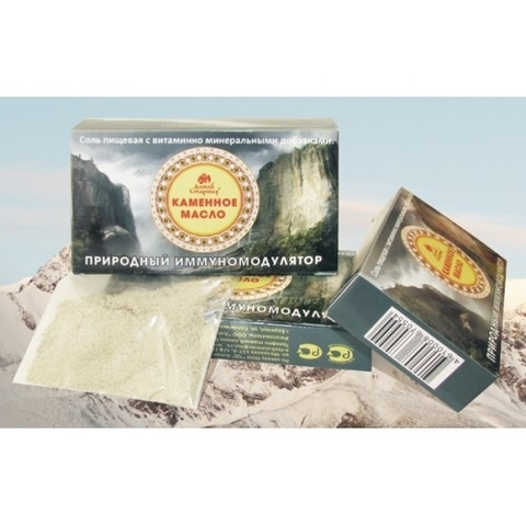 Соль пищевая КАМЕННОЕ МАСЛО (мумиё белое) 3 г (Старовер)