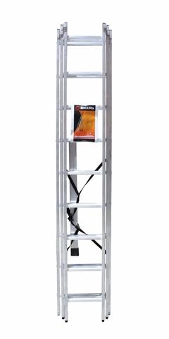 Лестница алюминиевая трехсекционная ВИХРЬ ЛА 3х9