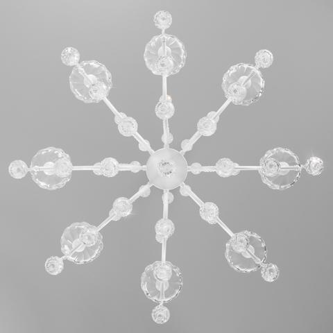 Подвесная люстра с хрусталем 10107/8 глянцевый белый/прозрачный хрусталь Strotskis