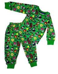 Пижама детская легкая Щенки спасатели зеленая