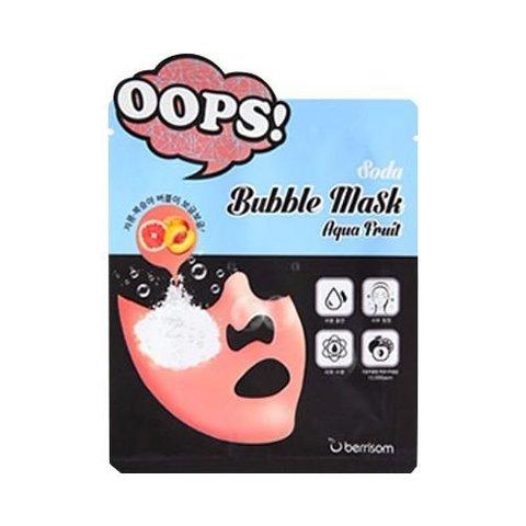 Berrisom Soda Bubble Mask aqua fruit пузырьковая маска - пилинг для увлажнения кожи