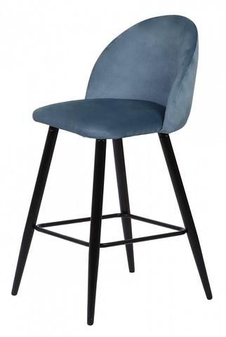 Барный стул MALIBU пудровый синий, велюр G108-56 М-City