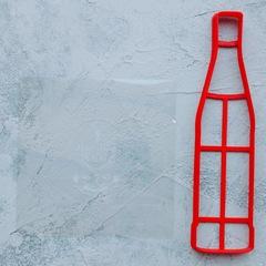 Трафарет бутылка Havana Rum 7 для пряника