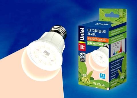 Uniel Лампа LED-A60-10W/SPFR/E27/CL (для растений)