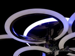 Черный Хром Светодиодная люстра с диммером и подсветкой 110W