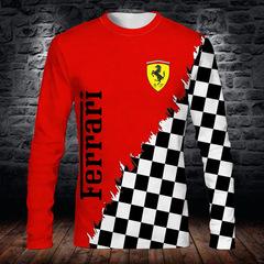 Толстовка 3D принт, Ferrari  (3Д Свитшот Феррари) 02