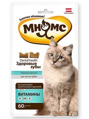 """Хрустящие подушечки для кошек Мнямс """"Здоровые зубы"""""""