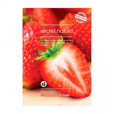 Secret Nature Strawberry Mask Sheet Tone Up Тонизирующая маска для лица с клубникой 25мл