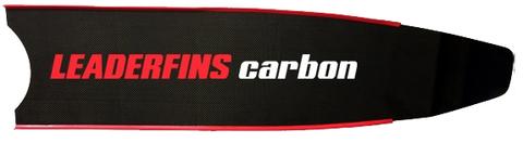Лопасти Leaderfins Pure Carbon красная отбортовка