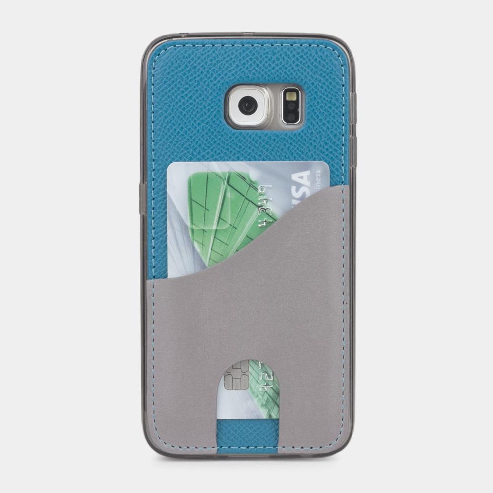 Чехол-накладка Andre для Samsung S6 edge из натуральной кожи теленка, морского цвета