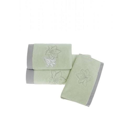 LILIUM зеленое полотенце махровое Soft Cotton (Турция)
